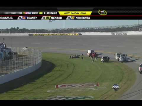 2009 AMP Energy 500 - Ryan Newman Flips (Part 1) Video