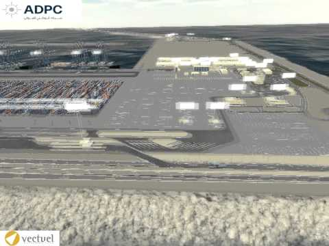 3D Simulation of the new port of Abu Dhabi