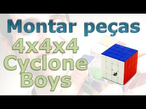 Como montar e desmontar as peças do 4x4x4 Cyclone Boys