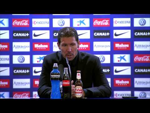 Rueda de Prensa de Diego Simeone tras el Atlético de Madrid (2-0) Real Zaragoza - HD