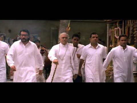 Amrish Puri with his sons goes to the cattle farm to get ...