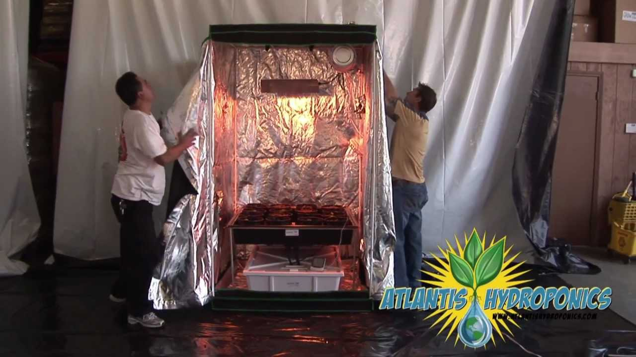 Viagrow Hydroponic Grow Room Kit Setup Youtube