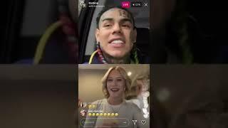 Lance Stewart & Lizzy Wurst With 6ix9ine On Instagram Live