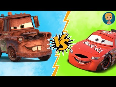 Lightning McQueen - Todd Marcus vs Tow Matter Match Cars with Gerti Toys