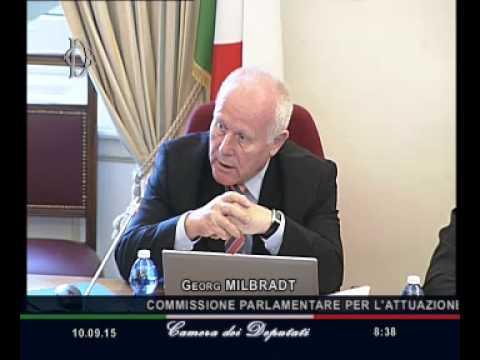 Roma - Federalismo fiscale, audizione professor Milbradt (10.09.15)