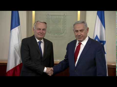 PM Netanyahu Meets French Foreign Minister Jean-Marc Ayrault