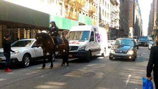 NYPD was asked to tow a FedEx truck