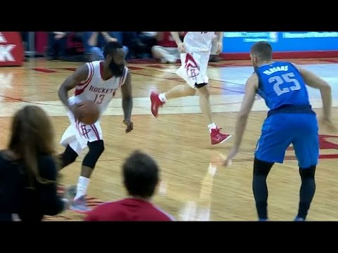 James Harden burns Chandler Parsons, makes defensive plays to beat Mavs
