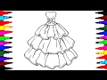 Barbie Glamour Dress 2 BEST LEARNING Coloring Book L Page For Children Learn Rainbow Colors Videos mp3