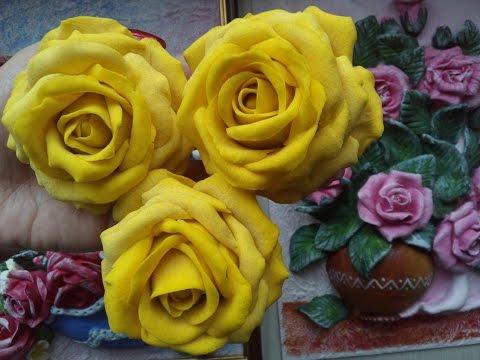 Рецепт солёного теста для лепки цветов. Как сделать розу из солёного теста.