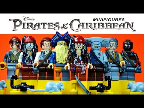 LEGO Pirates of the Caribbean™ Jack Sparrow, Davy Jones KnockOff Minifigures