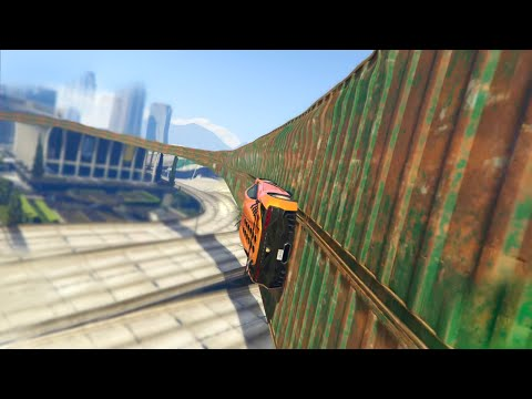 SKINNIEST WALLRIDE IN THE WORLD  (GTA 5 Online Funny Moments)