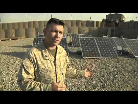 Marine Corps pursues alternative energy on the battlefield