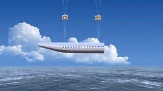 Самолет с капсулой, чтобы спасти пассажиров грузов во время катастрофы