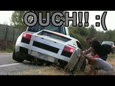Lamborghini Gallardo Sound + ACCIDENT!!