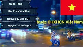 Hộ tống đoàn xe tang chở Linh Cửu đ/c Phan Văn Khải đến Dinh Độc Lập
