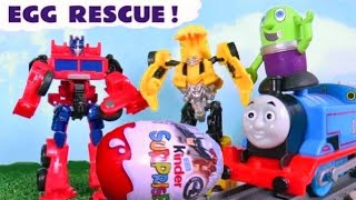 Funny Funlings Kinder Surprise Egg Rescue for Transformers Bumblebee with Thomas Train TT4U