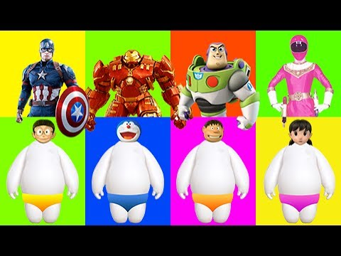 Wrong Heads Wrong Dress Doraemon Nobita Ironman Toy Story Superman Finger Family Nursery Rhymes Song