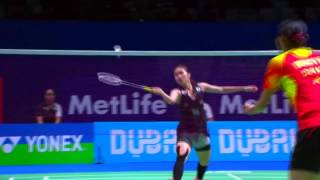 Best Badminton moments Trick Shots, Crazy Rallies, Funny Moments, dives - Dubaï Superseries 2015