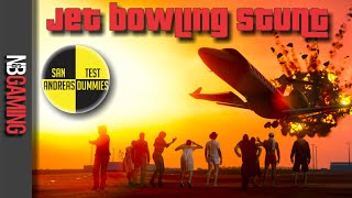 GTA5 Jet Bowling Stunt - San Andreas Test Dummies Ep. 41 - Funny Moments and Stunts