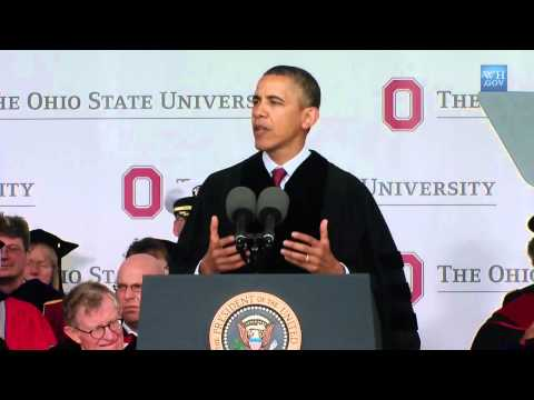 President Obama Speaks at The Ohio State University Commencement Ceremony
