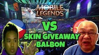Mobile Legends Philippines Vs Vietnam + Skin GIVEAWAY balbon