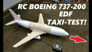 Boeing 737-200 RC Airplane Airliner EDF Taxi Test [4K]
