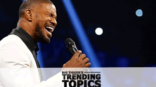 Jamie Foxx Explains What Happened With The National Anthem - Trending Topics