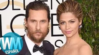 ¡Top 10 Famosos de Hollywood Casados con LATINAS!