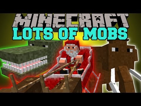 Minecraft: LOTS OF MOBS (DINOSAURS. DIMENSIONS. PETS) Lots O Mobs Mod Showcase
