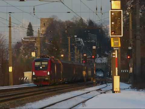Trains & Skiing 2010 - Part 2, Inntal Trainspotting! February 4