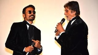 Amitabh and Dhanush stunned the audience by singing Ilayaraja songs at Shamitabh audio launch