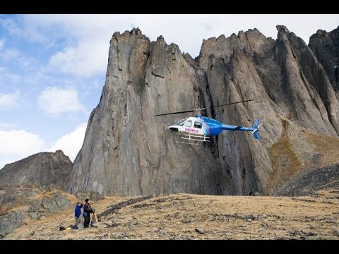 Tombstone Mountains from a helicopter, Yukon, Canada