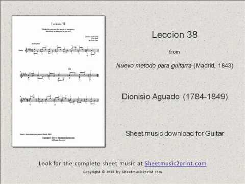 Dionisio Aguado - Lesson 38 In E Major