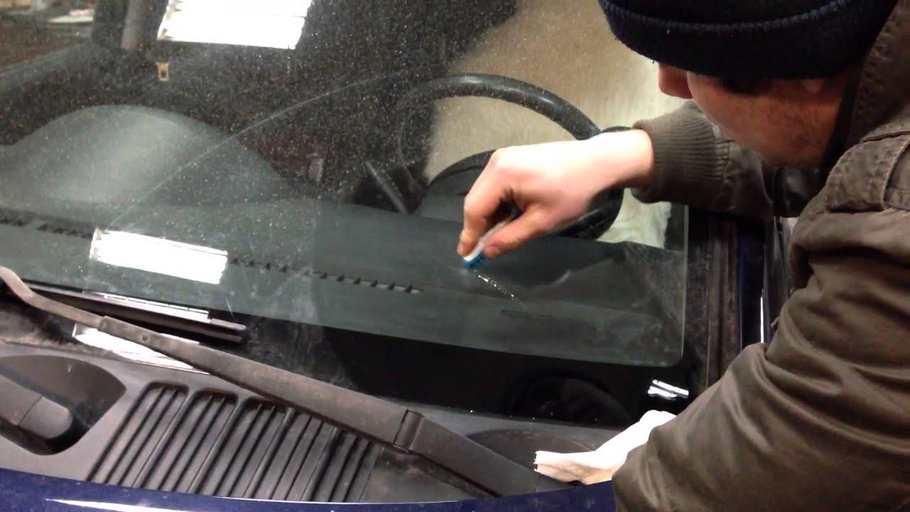 Ремонт трещин лобового стекла своими руками 149