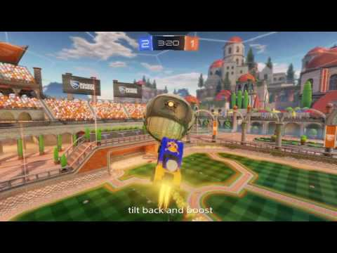 Rocket League. Air Drag / Air Dribble Tutorial  (Off the wall)