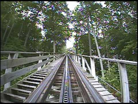 Boulder Dash Wooden Roller Coaster POV Lake Compounce