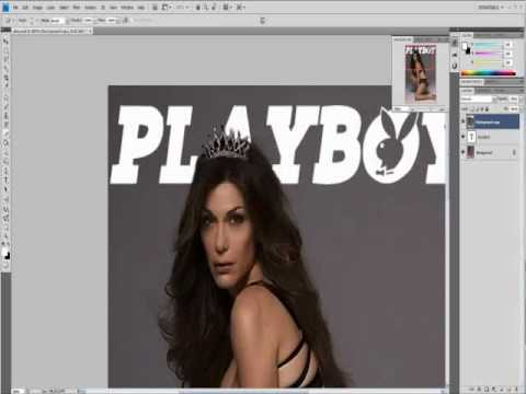 Playboy Magazine Cover Photoshop Video