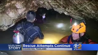 8 Rescued From Thailand Cave, 5 More Remain Trapped