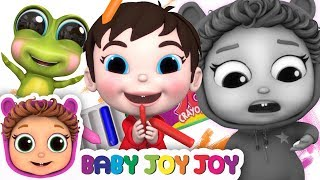 The Crayon Family Song | Finger Family Song | Learn Colors | Baby Joy Joy