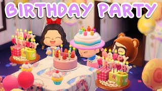 my friends surprised me!!! ✦ BIRTHDAY PARTY TUTORIAL ✦ Animal Crossing New Horizons