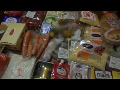 Закупка продуктов для праздничного стола к Дню Рождения