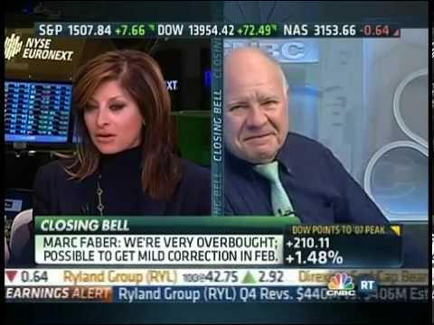 January 29th 2013 CNBC Stock Market Marc Faber on CNBC Closing Bell