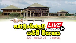 Parliament | Live Broadcast | 2021-01-06 | Part 2