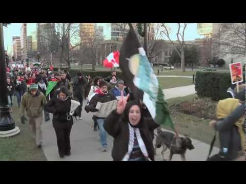 Hundreds rally in Toronto, Canada for Gaza Solidarity and a Free Palestine - November 24, 2012
