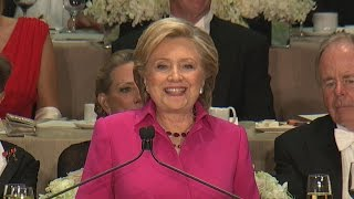 Clinton roasts Trump at Al Smith charity dinner
