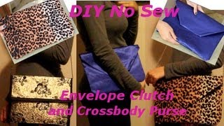 DIY No Sew Envelope Clutch and Cross Body Purse