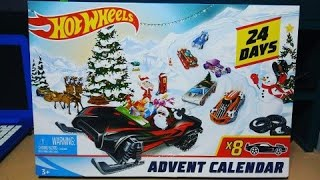 Hot Wheels Christmas Advent Calendar 2019 Unbboxing!!