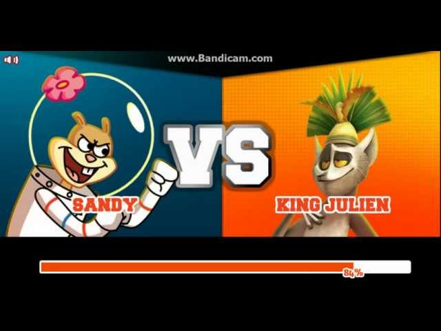 Super Brawl 2 - SANDY CHEEKS vs KING JULIAN