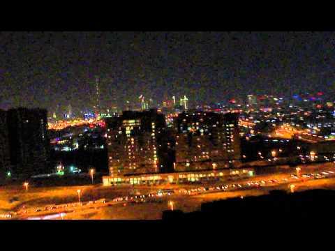 Dubai Sharjah road at Night